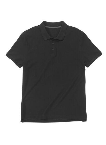 herenpolo zwart zwart - 1000009596 - HEMA