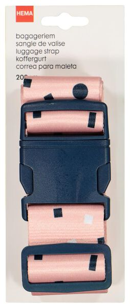 bagageriem - 200 cm - roze - 18630112 - HEMA