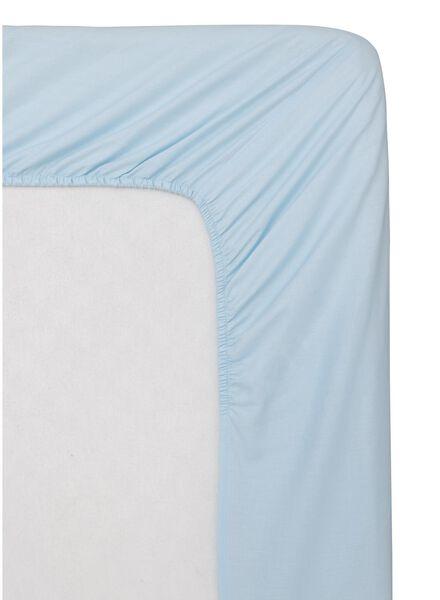 hoeslaken - zacht katoen - 160 x 200 cm - lichtblauw lichtblauw 160 x 200 - 5100150 - HEMA