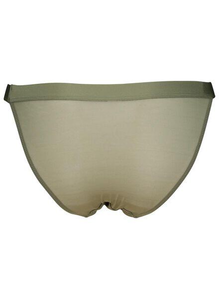 dames tangaslip mesh groen groen - 1000014534 - HEMA