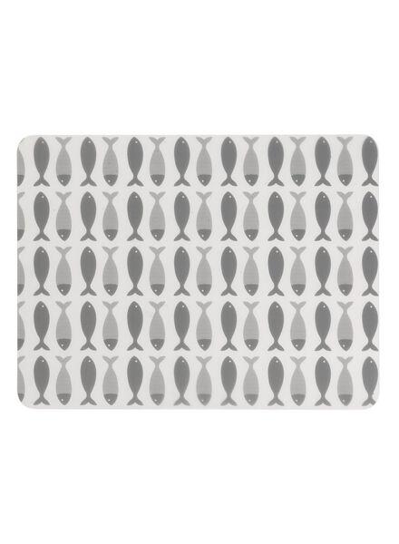 placemat - 32 x 42 - kunststof - grijs vissen - 5390176 - HEMA
