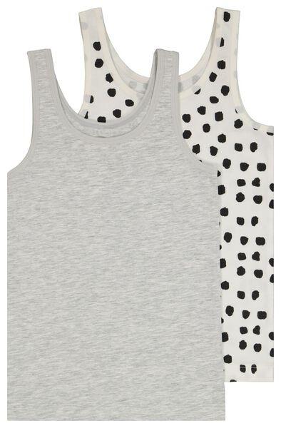 kinderhemden - 2 stuks gebroken wit 158/164 - 19387267 - HEMA