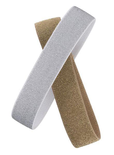 2-pak elastieken voor lunchbox lurex - 80630546 - HEMA