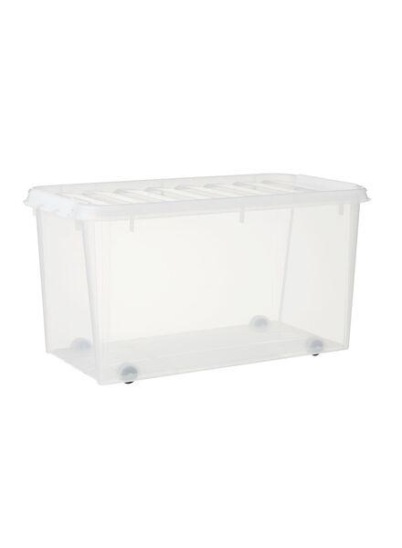 opbergbox 72x40x38 Paris transparant - 39890002 - HEMA