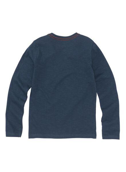 kinder t-shirt donkerblauw donkerblauw - 1000008580 - HEMA
