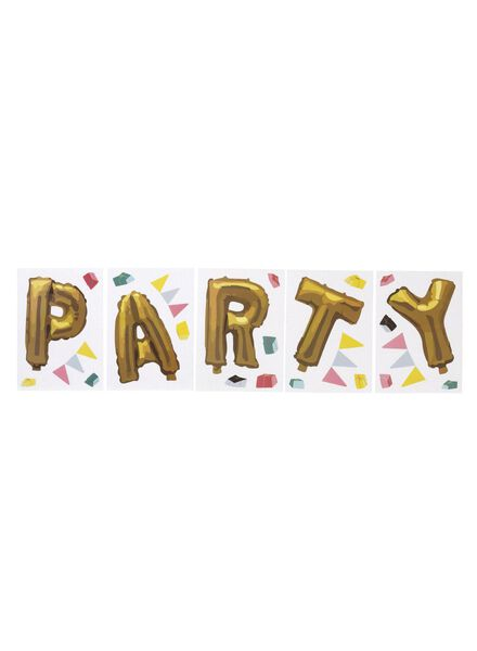 raamstickers party - 60700264 - HEMA