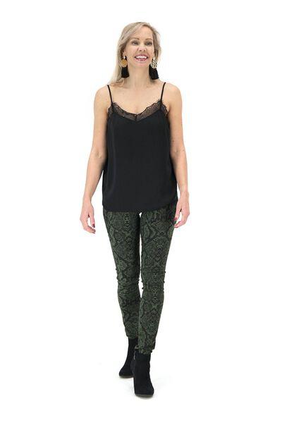 damessinglet zwart zwart - 1000017431 - HEMA