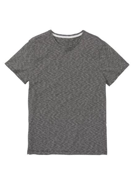 heren t-shirt zwart/wit zwart/wit - 1000009597 - HEMA
