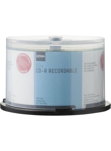 50-pak cd-r 700MB - 39529625 - HEMA