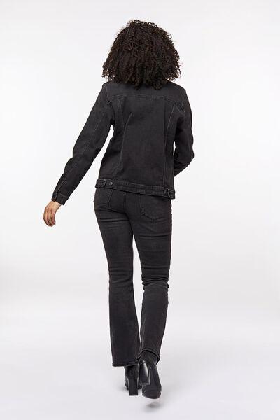 damesjack denim zwart M - 36218362 - HEMA