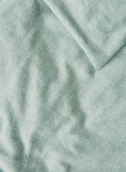 dekbedovertrek - 140 x 200 - flanel - mint - 5710058 - HEMA