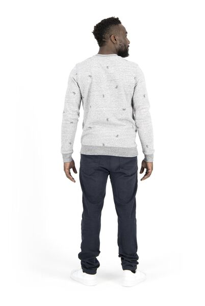 herensweater grijsmelange XXL - 34229634 - HEMA