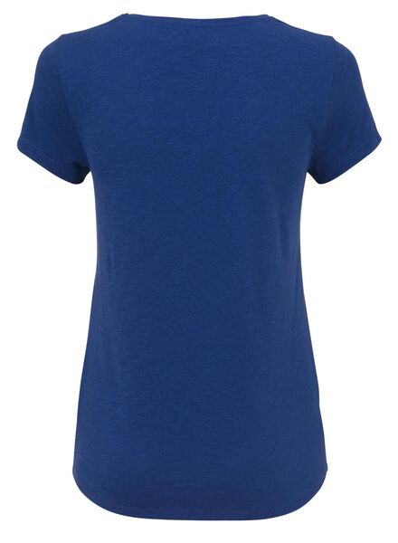 dames t-shirt kobaltblauw - 1000008454 - HEMA