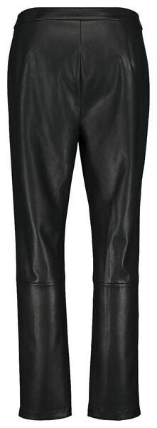 damesbroek imitatieleer zwart XL - 36248369 - HEMA