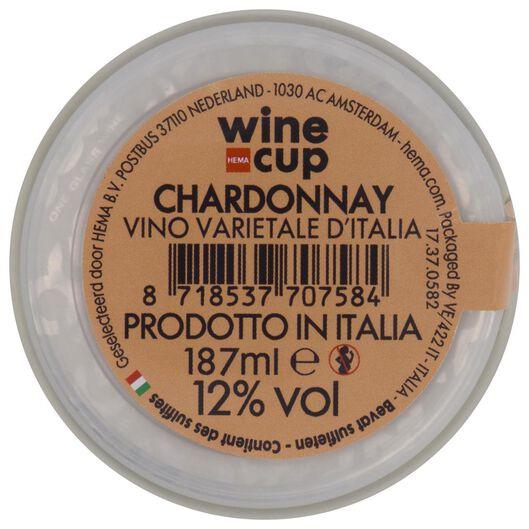 wine in cup chardonnay 187ml - 17370582 - HEMA