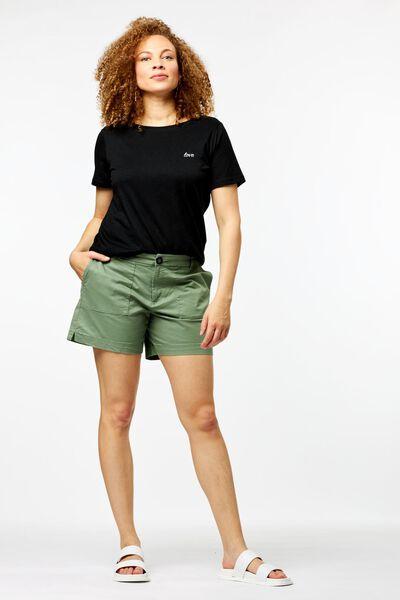 dames t-shirt love zwart S - 36262286 - HEMA