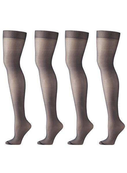 4-pak mat panty's 20 denier zwart 48/52 - 4012244 - HEMA