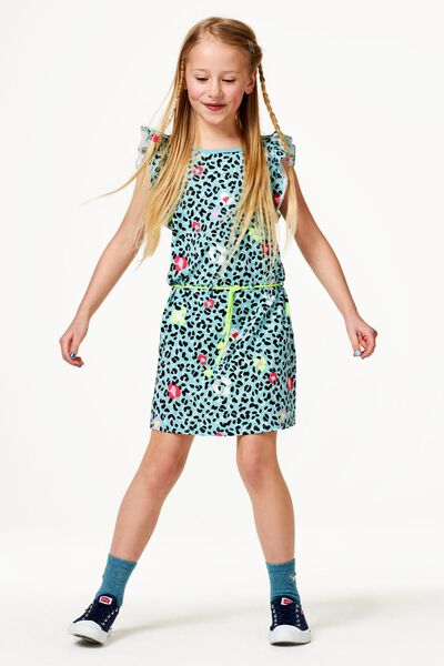 kinderjurk animal groen 122/128 - 30845843 - HEMA