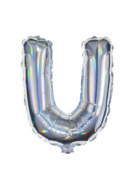 folieballon U - zilver U zilver - 60800452 - HEMA
