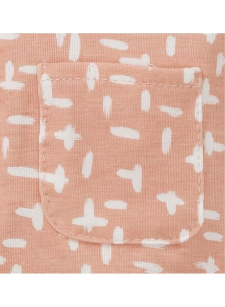 newborn jumpsuit bamboe roze roze - 1000013128 - HEMA