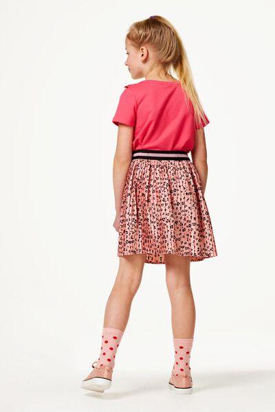 kinder t-shirt ruffle rood rood - 1000023423 - HEMA