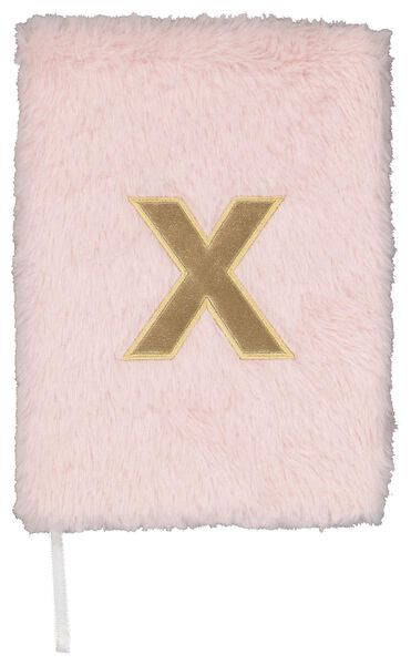 Notitieboek A5 fluffy letter X