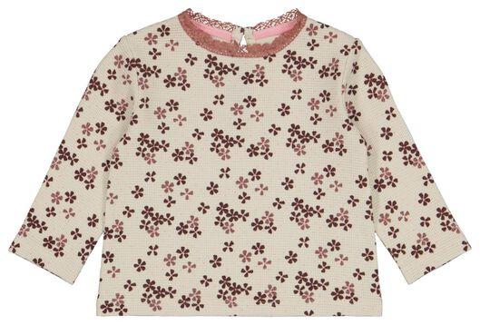 baby t-shirt wafel gebroken wit - 1000024452 - HEMA