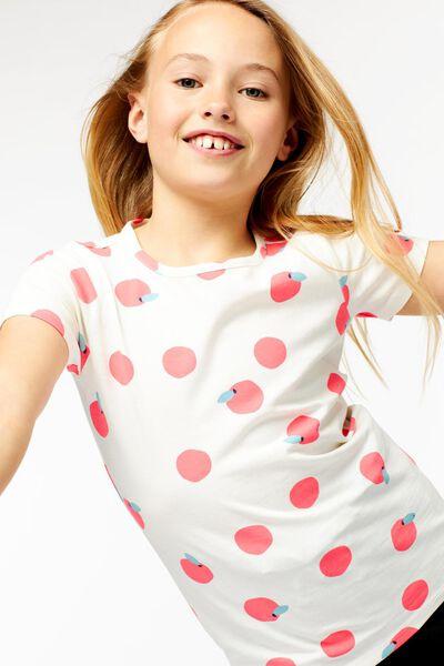 kinder t-shirt fruit gebroken wit 98/104 - 30875849 - HEMA