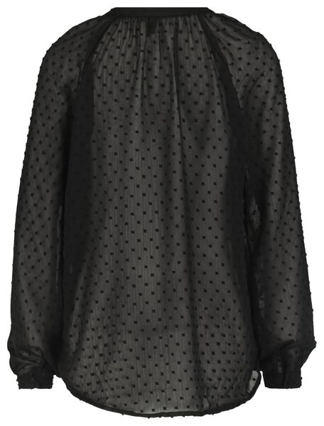 damesblouse zwart zwart - 1000021749 - HEMA