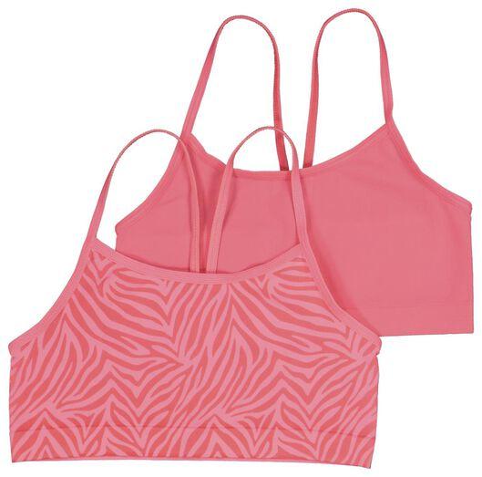 2-pak kinder soft tops zebra felroze felroze - 1000021139 - HEMA