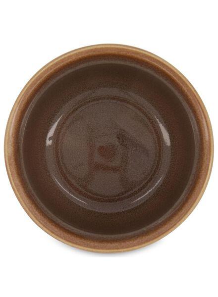 bloempot - 12.5 x Ø 13.5 cm - bruin reactief glazuur - 13392081 - HEMA