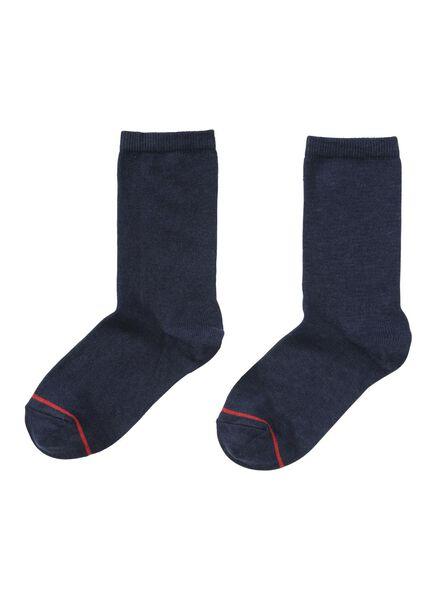 2-pak damessokken warm feet donkerblauw donkerblauw - 1000017243 - HEMA