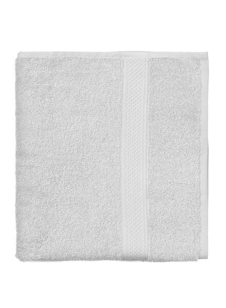handdoek - 60 x 110 cm - zware kwaliteit - lichtgrijs uni - 5240204 - HEMA