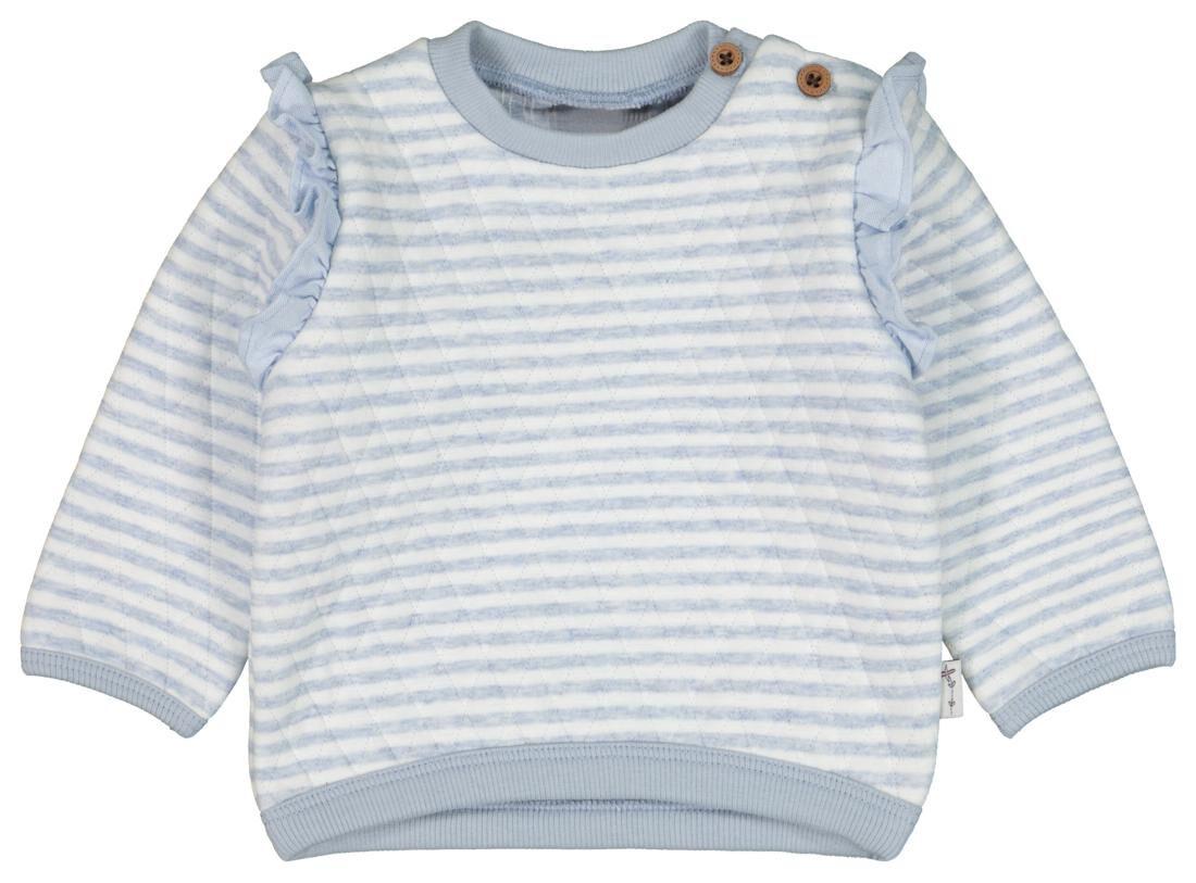 HEMA Babysweater Strepen Padded Lichtblauw (lichtblauw)