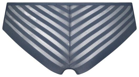 damesbrazilian micro met mesh middenblauw L - 19645824 - HEMA
