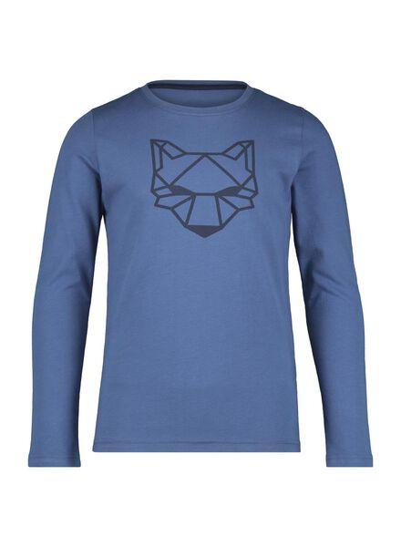 kinderpyjama donkerblauw donkerblauw - 1000014962 - HEMA