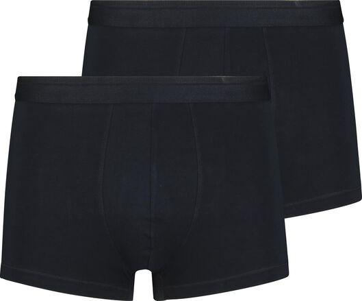 2-pak herenboxers kort real lasting cotton donkerblauw donkerblauw - 1000018786 - HEMA