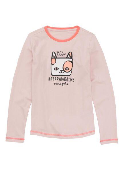 kinderpyjama lichtroze lichtroze - 1000009222 - HEMA