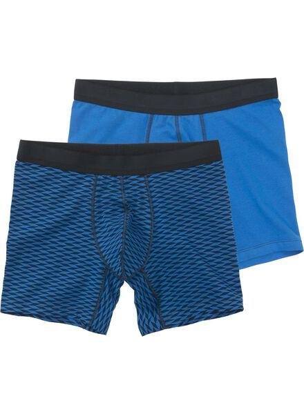 2-pak herenboxers blauw blauw - 1000012208 - HEMA