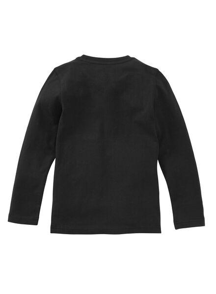 kinder t-shirt - biologisch katoen zwart zwart - 1000019379 - HEMA