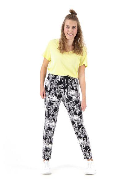 dames t-shirt met bamboe geel L - 36357172 - HEMA