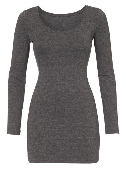 dames t-shirt donkergrijs donkergrijs - 1000005134 - HEMA