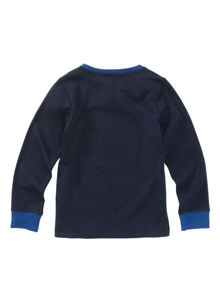 kinderpyjama donkerblauw donkerblauw - 1000002773 - HEMA