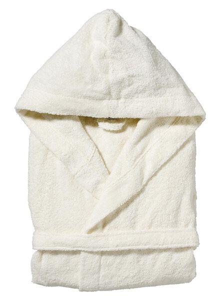 badstof badjas met capuchon ivoor ivoor - 1000002863 - HEMA