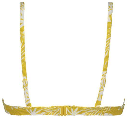 dames bikinitop zonder beugel - rib flower geel XS - 22350221 - HEMA