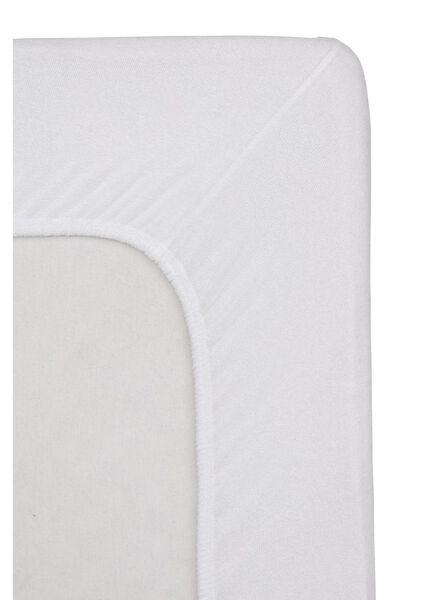 hoeslaken - badstof - 160 x 200 cm - wit - 5140122 - HEMA