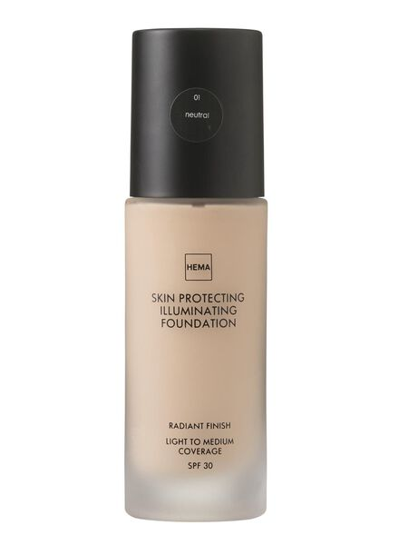 skin protecting illuminating foundation Neutral 01 - 11291901 - HEMA