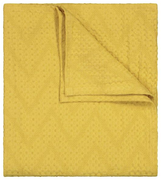 plaid 130x150 wafel okergeel - 13211151 - HEMA