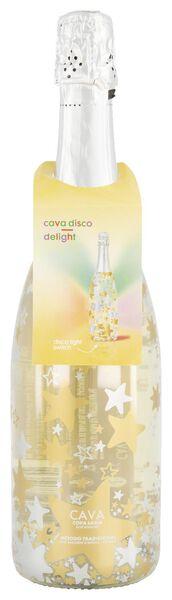 cava disco delight met gekleurd LED lampje 0.75L - 17390065 - HEMA