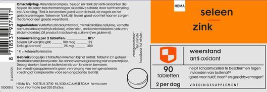 seleen zink - 90 stuks - 11402221 - HEMA